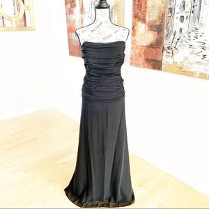 David's Bridal Strapless Chiffon 2 Piece Skirt/Top